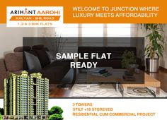 Arihant Aarohi  Kalyan Shill Road - 1 2 & 3 BHK Flats - 3 Towers, Stilt+18 Storeyed, Residential Cum Commercial Project Sample Flat Ready http://www.asl.net.in/arihant-aarohi.html #ArihantAarohi #RealEstate #Homes #Property #Residential #Commercial #KalyanShillRoad