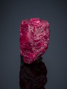 The Hixon Ruby The Hixon Ruby is one of the collection's best-known specimens. The 196.10 ct crystal was donated in 1978 by Colonel Frederick Hixon. Photo by Robert Weldon/GIA, courtesy Gem & Mineral Department, Natural History Museum of Los Angeles County.