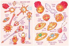 Earth Guardian Mamoru Weapons by Azure-and-Copper.deviantart.com on @DeviantArt