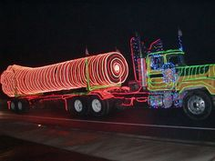 Trucker Christmas Parade: #Eurekas 33rd annual #KEKA Thunder 101 Country Radio Trucker's Christmas Past convoys have featured as many as 100 trucks, some so festooned the entry required three generators to operate lighting