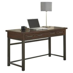 Home Styles Cabin Creek Computer Desk with 1 Right & 1 Left Drawer
