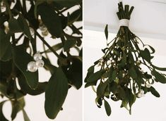 Pearls instead of the poisonous berries on the mistletoe
