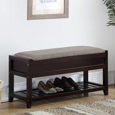 Shop for Entryway - Overstock.com Shoe Bench, Bench With Shoe Storage, Door Storage, Storage Spaces, Small Bench Seat, Slatted Shelves, Multifunctional Furniture, Modern Bench, Upholstered Bench
