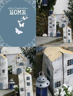 Heute nehme ich euch einmal mit vors Haus.Dort stehen seit einigen Tagen diese drei Häuser.Angeregt durch ein Landmagazin,entwarf ich meine Holzhäuser. Ein Bekannter sägte mir die Stücke aus250 Jahre