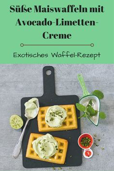 Süße Maiswaffeln mit Avocado-Limetten-Creme (Foto: Promo)