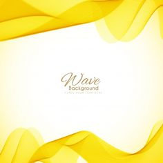 Yellow waves background Free Vector