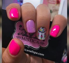 Gorgeous Nails in Shades of Pink & a Dream Catcher!