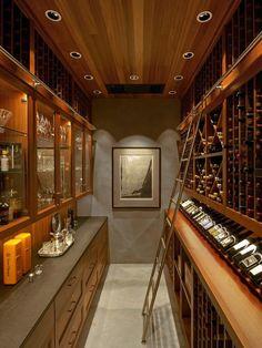Um corredor pode virar uma adega - .decornup.com & Wine Cellar...This would be nice for a wine connoisseur such as ...
