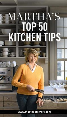 Martha's Top 50 Kitchen Tips | Martha Stewart Living - Clever ideas, practical storage, unusual solutions -- Martha shares her secrets for creating a kitchen that works.