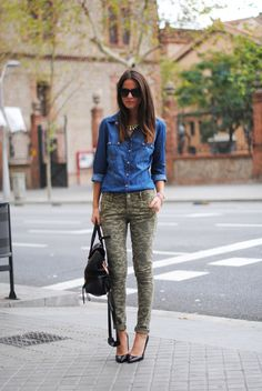 {denim & camo} - I cannot find skinny camo pants! Where are these???