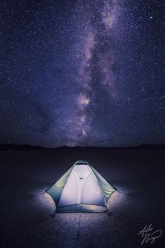 """""""My camp on eastern Oregon's Alvord desert playa, under the Milky Way."""" Camping under the south-easter Oregon sky is some of the best stargazing I've ever seen! (Some of the least amount light pollution in the country) Definitely a must, especially in the Steens area. Camping World, Go Camping, Outdoor Camping, Camping Ideas, Oregon Camping, Camping Spots, Camping Activities, Outdoor Activities, Night Photography"""