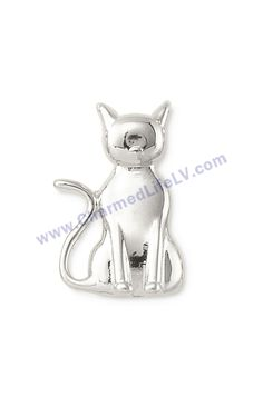 $9. Cat - Silver. The cat is curious, affectionate and playful. Wear this key to celebrate the kindred spirit in you. #cat #charms #personalized #jewelry #bracelet #watch #necklace #accessories #gift #giftidea