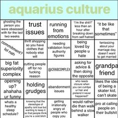 btw if ur shit didn't make it into the bingo (something you sent me) it'll probably be in a meme later on or something lol 😇😄… Aquarius Funny, Astrology Aquarius, Aquarius Quotes, Aquarius Woman, Zodiac Signs Aquarius, Zodiac Star Signs, Aquarius Facts, Capricorn, Bingo