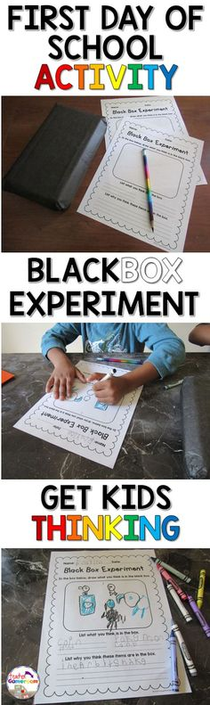 """The Black Box Experiment"" – The First Day of School Activity"