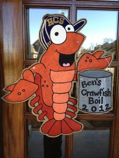 """crawfish boil, make into sign that says,""""don't eat the straight ones"""""""