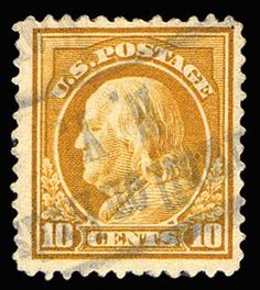 Jerry Connolly Stamps has this available on Collectors Corner - Scott# 416a, 1912 10c Brown yellow, PSE NG 0, Used