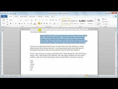 Microsoft Word 2010 Paragraph formatting - Tutorial 12 - YouTube