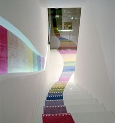 Kid's Republic Bookstore - the rainbow staircase