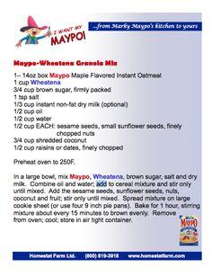 Maypo Wheatena Granola Mix