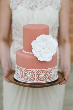 Wedding Cake -- See More Wedding Inspiration on #SMP here: http://www.StyleMePretty.com/2014/05/05/spanish-style-wedding-inspiration/ Photography: CharlaStorey.com