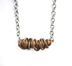 Copper wire wrapping necklace wire wrapped copper wire door deBATjes