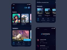 Artstation – Mobile application concept by Valery Pevnev on Dribbble