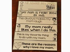 These flip books are PERFECT for Mother's Day!