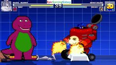 Barney The Dinosaur And Bugs Bunny VS Mini-figure & Rorschach In A MUGEN Match / Battle / Fight This video showcases Gameplay of Barney The Dinosaur From The Barney & Friends Series And Bugs Bunny From The Looney Tunes Series VS Mini-figure And Rorschach The Member Of The Watchmen In A MUGEN Match / Battle / Fight