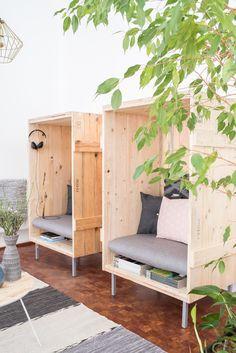 Einrichtungsprojekt Werbeagentur mit DIY-Möbeln und upcycling Ideen