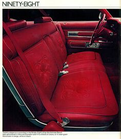 1974 Oldsmobile Ninety Eight Luxury Sedan Interior