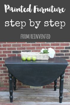 Painted Furniture Step by Step from Reinvented (diy furniture redo step by step) Stripping Furniture, Diy Furniture Redo, Repurposed Furniture, Furniture Projects, Painted Furniture, Home Furniture, Diy Projects, Do It Yourself Furniture, Do It Yourself Home