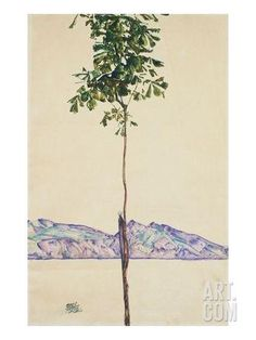 Little Tree (Chestnut Tree at Lake Constance) Giclee Print by Egon Schiele at Art.com