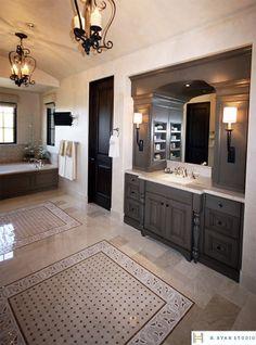 Suzie palm design group spanish style master bathroom for Spanish style master bathrooms