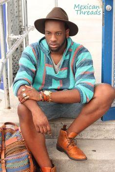 turquoise baja hoodie Baja Hoodie, Bohemian Style, Bohemian Fashion, Hipster, Vogue, Hoodies, My Style, How To Wear, Outfits