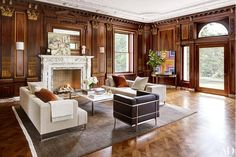 A stunning historic New Jersey estate is punched up with handsome modern decor