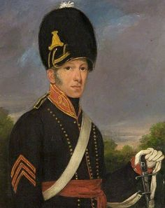 British; Royal Wiltshire Yeomanry, Malmesbury Troop,Sergeant George Butler, 21 August 1818,  Aged 28 (Artist unknown)