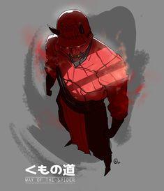 Nikola Čižmešija - Marvel redesigns- Way of the Spider - Daredevil Fantasy Character Design, Character Design Inspiration, Character Concept, Character Art, Marvel Fan Art, Marvel Heroes, Oni Samurai, Dc Comics, Daredevil Punisher