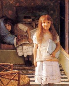 Lawrence Alma-Tadema This is Our Corner 1873 - Alma-Tadema's daughters, Laurence and Anna