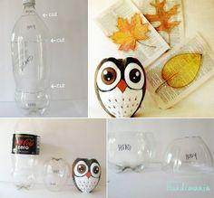 Owl soda bottle recycle