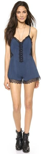 Free People Lace Insert Romper is on sale now for - 25 % ! Outerwear and possibly sleepwear, too.