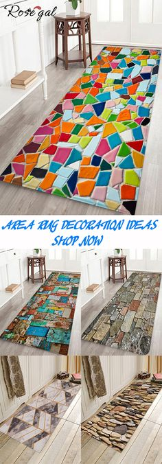 Rosegal Bath rug Water Absorption Rug living room decoration area rug ideas - List of the most creative home decor Rugs In Living Room, Living Room Decor, Bedroom Decor, Home Crafts, Diy Home Decor, Diy Décoration, Creative Home, Floor Rugs, Home Design