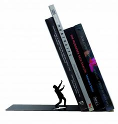 """Metal Bookend // shaped as Falling Books // Bookends // Metal Book Accessories // Unique Gift // """"Falling bookend"""" by ArtoriDesign Book Holder Stand, Book Holders, Book Stands, Cute Home Decor, Fall Home Decor, Hidden Book, Metal Figurines, Cool Books, Metal Homes"""