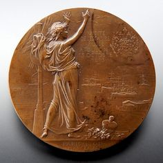 RARE! 1893 BRONZE MEDAL COMMEMORATING VISIT OF RUSSIAN FLEET TO TOULON – Gold Stream Boutique