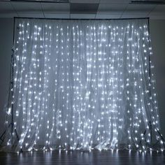 600 Sequential White LED Lights BIG Wedding Party Photography Organza Curtain Backdrop - x - ChairCoverFactory White Led Lights, White Light, Led Curtain Lights, Curtain Rods, Deco Led, String Curtains, Crystal Curtains, Drapes Curtains, Lumiere Led
