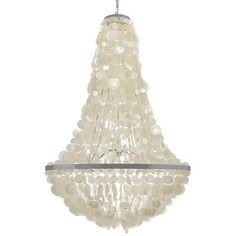 Kouboo Manor Capiz Seashell 3-Light Empire Chandelier