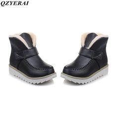 QZYERAI Snow boots Plus size New 2018 Snow Boots platform women winter shoes waterproof ankle boots lace up fur boots Fur Boots, Ankle Boots, Lingerie Accessories, Winter Shoes, Short Boots, Keep Warm, Platform, Lace Up, Snow
