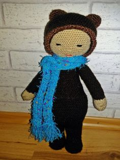 BINA the bear made by Angela P. / crochet pattern by lalylala
