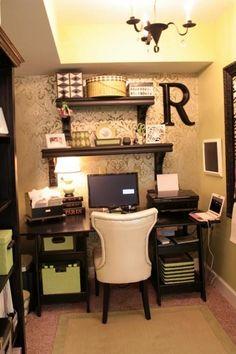 Feminine home office decor | Amanda Carol Interiors. | Decor ...
