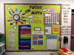 Math Focus Wall- First Grade- My Classroom 2012-2013