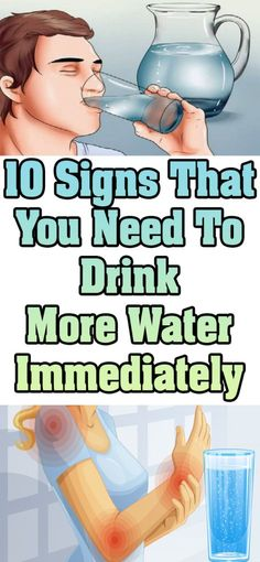 10 SIGNS THAT YOU NEED TO DRINK MORE WATER & YOU SHOULD START THE INTAKE IMMEDIATELY